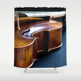 Cello in Repose Shower Curtain