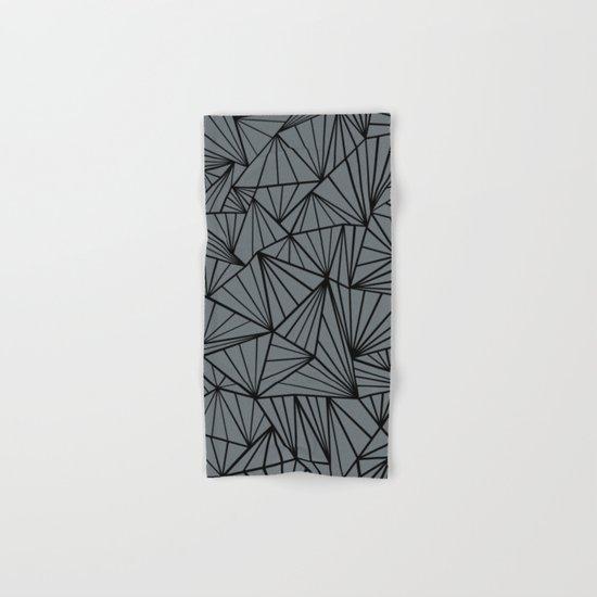 Ab Fan Grey and Black Hand & Bath Towel