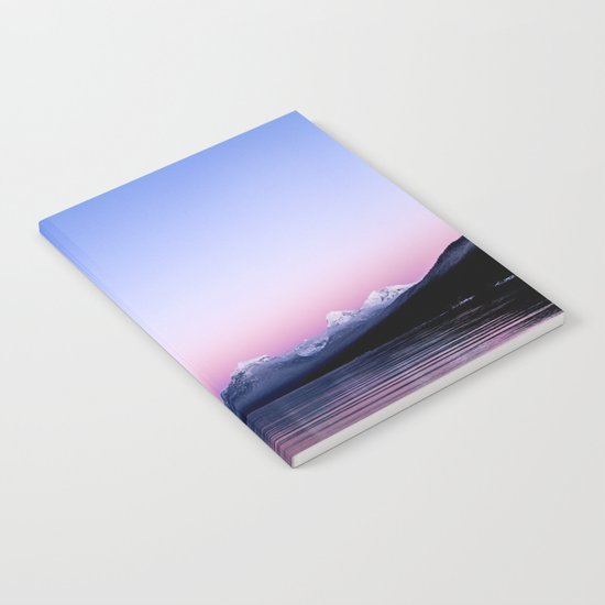 pastel mountain lake sunset Notebook