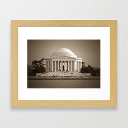 Thomas Jefferson National Memorial :: Washington DC Framed Art Print