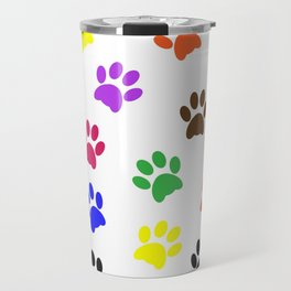 Paw print design Travel Mug