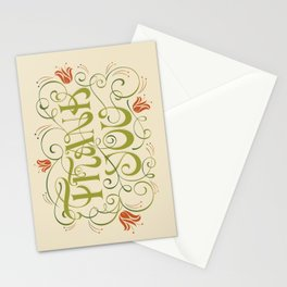 Thank You Card - creamy yellow Stationery Cards