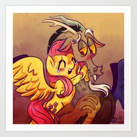 mlp Art Prints featuring MLP: Fluttercord by Erika Draw