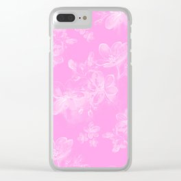 Springflower Clear iPhone Case