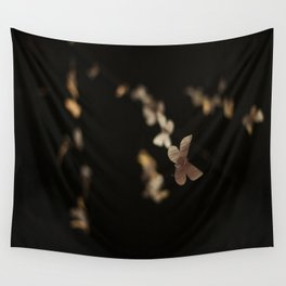 I Am Building A Forest- Paper Butterfly Installation Detail Wall Tapestry