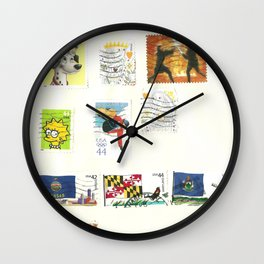 stamp collection Wall Clock