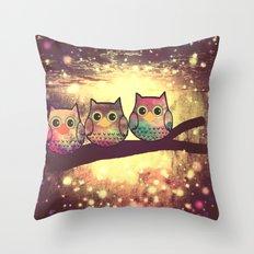 owl-246 Throw Pillow