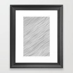 Righe Framed Art Print