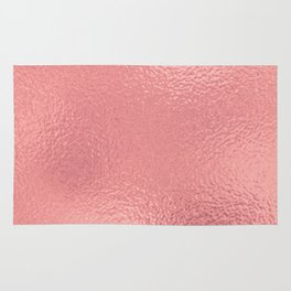 Simply Metallic in Warm Rose Gold Rug