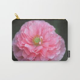Pink Ruffled Poppy Flower Carry-All Pouch