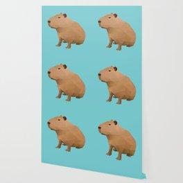 Capybara Polygon Art Wallpaper