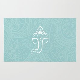Blue Ganesh - Hindu Elephant Deity Rug