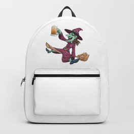 Drunk Witch Halloween Backpack