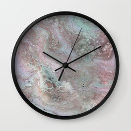 mauve and teal Wall Clock