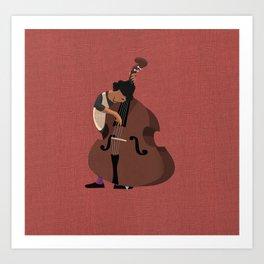 Jazz Trio - Bassist Art Print