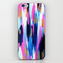 Spring Golden - Pink and Navy Abstract iPhone Skin