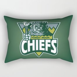 Forest Moon Chiefs - Green Rectangular Pillow