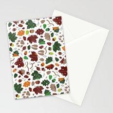 Forest floor tile pattern Stationery Cards