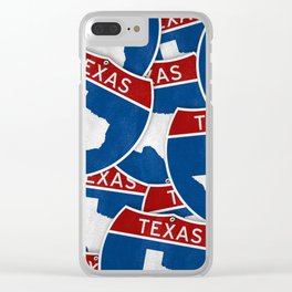 Texas road sign Clear iPhone Case