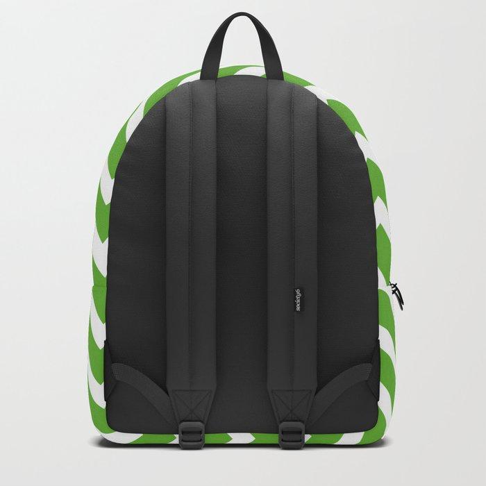 green, white zig zag pattern design Backpack