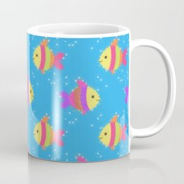 Swimming Fish Cartoon Pattern Coffee Mug