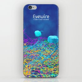 Ganglion Neurons on Blue iPhone Skin