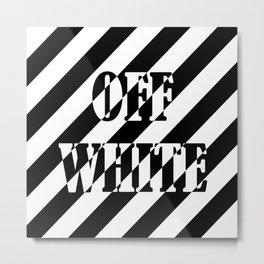 OFF WHITE LONG Metal Print