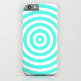 Circles (Turquoise & White Pattern) iPhone Case