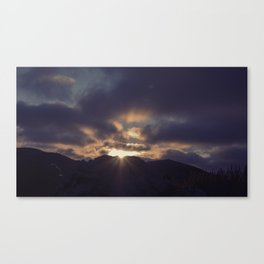 Yesterday Is Gone // Today Is A New Day Canvas Print