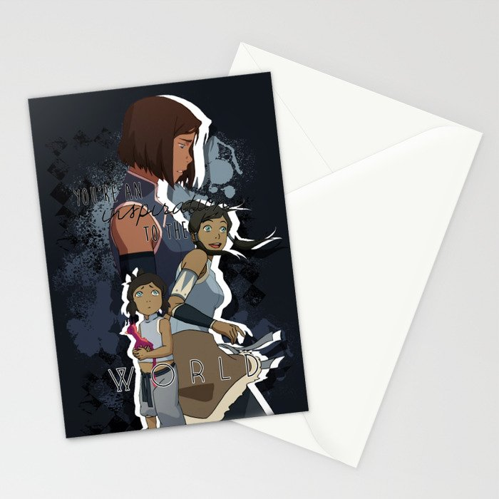 Korra - To The World Stationery Cards
