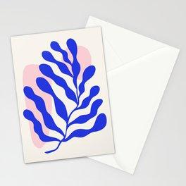 Blue Matisse Ferns Stationery Cards