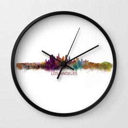 Los Angeles City Skyline HQ v2 Wall Clock