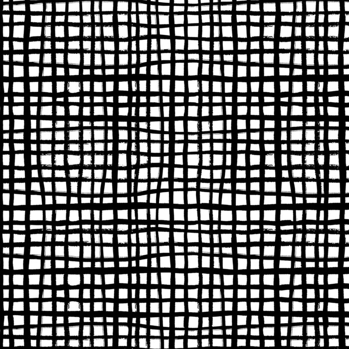 Essie - Grid, Black and White, BW, grid, square, paint, design, art Leggings