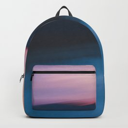 Mountain Sunset Abstract Backpack