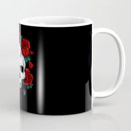 Skull and Roses Coffee Mug
