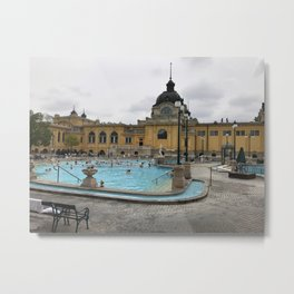 Baths of Budapest Metal Print