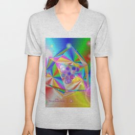 Colorful Mural Unisex V-Neck