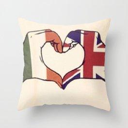 One Direction Inspired UK/Irish Love Heart Throw Pillow