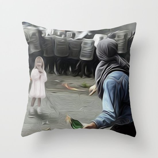 innocents takes no sides Throw Pillow