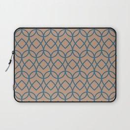 Sand Storm Beige Dark Blue Teardrop Pattern 2021 Color of The Year Canyon Dusk Bering Wave Laptop Sleeve