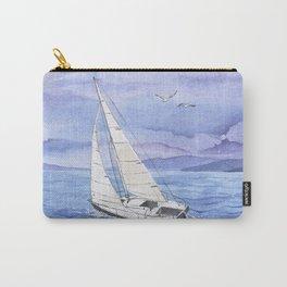 Italian summer. June. Barca a vela Carry-All Pouch