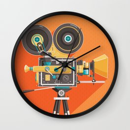Cine: Orange Wall Clock