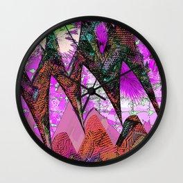 Mystical Magenta Magic Garden Wall Clock