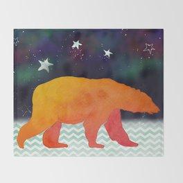 Aurora Bear -  Technicolour Safari, Polar bear Throw Blanket