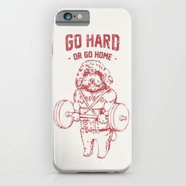 Go Hard or Go Home Poodle iPhone Case