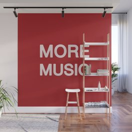 More music -  Red Wall Mural