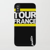 tour de france iPhone & iPod Cases featuring Tour de France by Pedlin