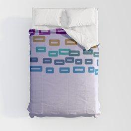 Cute wild pink Blocks ethnic Comforters