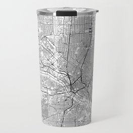 Dallas White Map Travel Mug