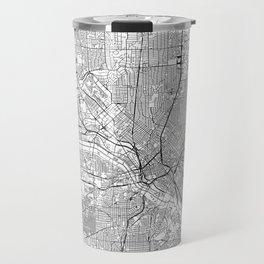 Dallas White Map Travel Mug